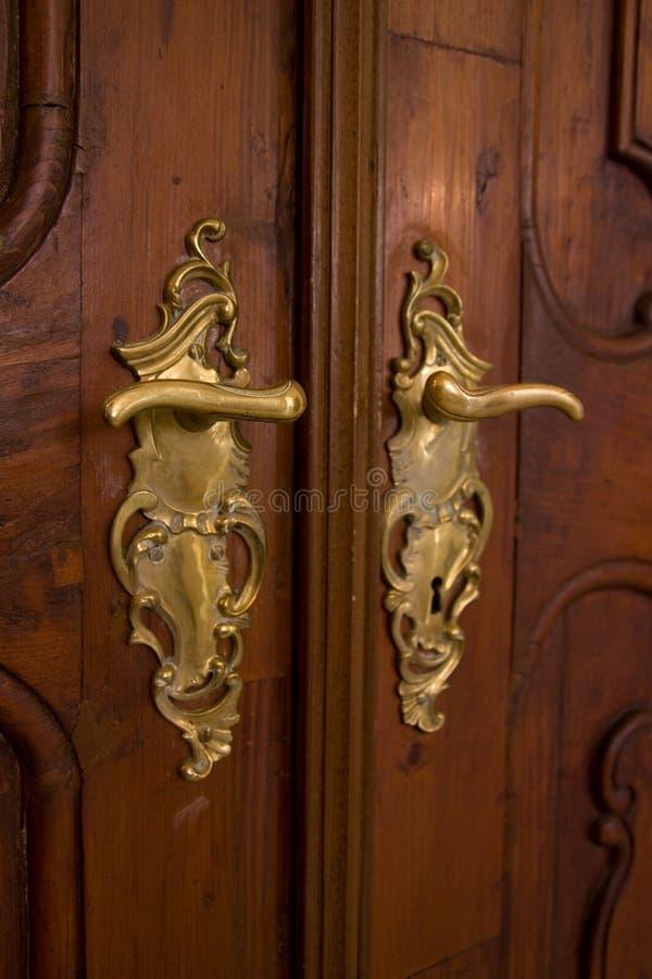 Punho de porta clássico imagens de stock