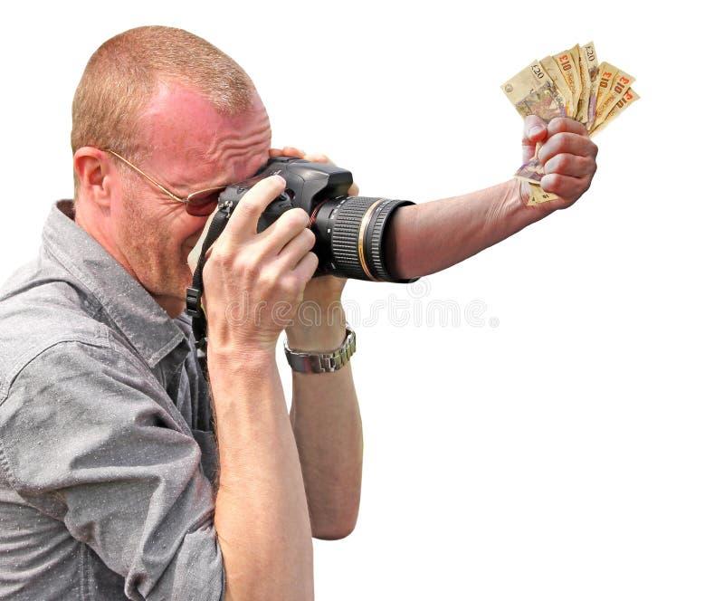 Punho de vencimento das mãos da garra da concessão do dinheiro da competição da câmera para ganhar fotos de stock