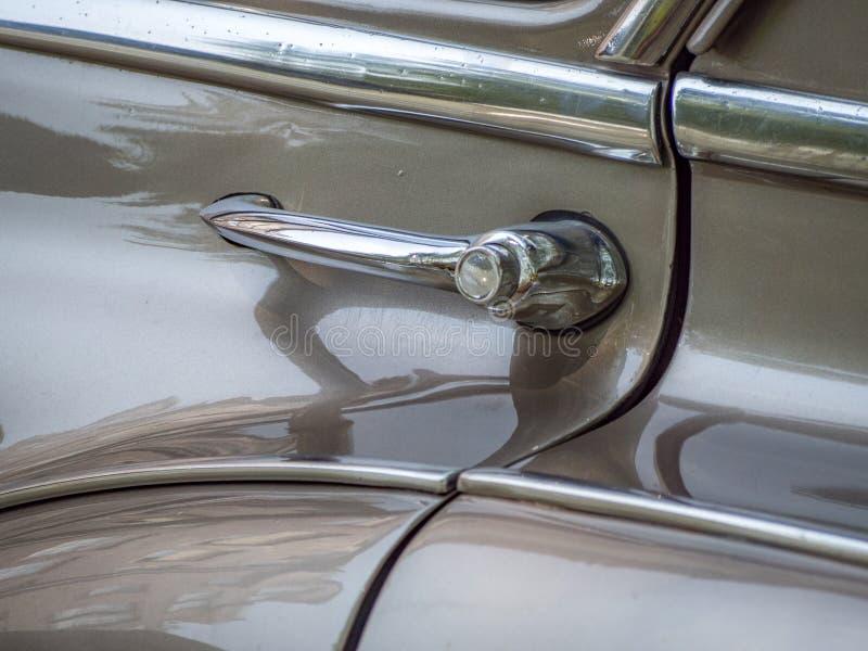 Punho do carro do vintage fotografia de stock