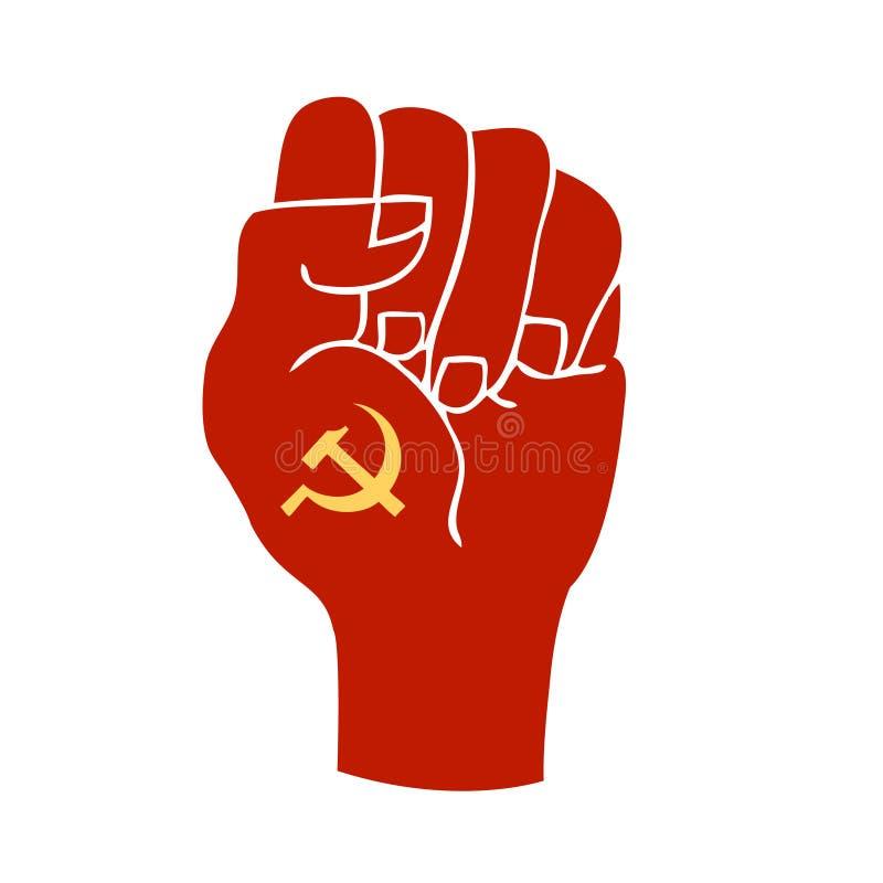 Punho do símbolo do comunismo ilustração royalty free