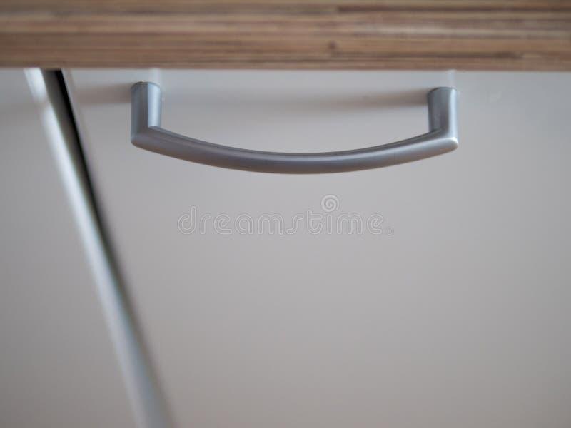 Punho dois de aço com furo chave do armário de arquivo de aço imagens de stock