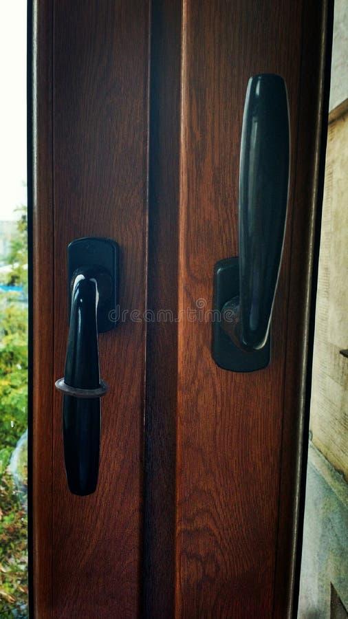 Punhos de janela imagens de stock