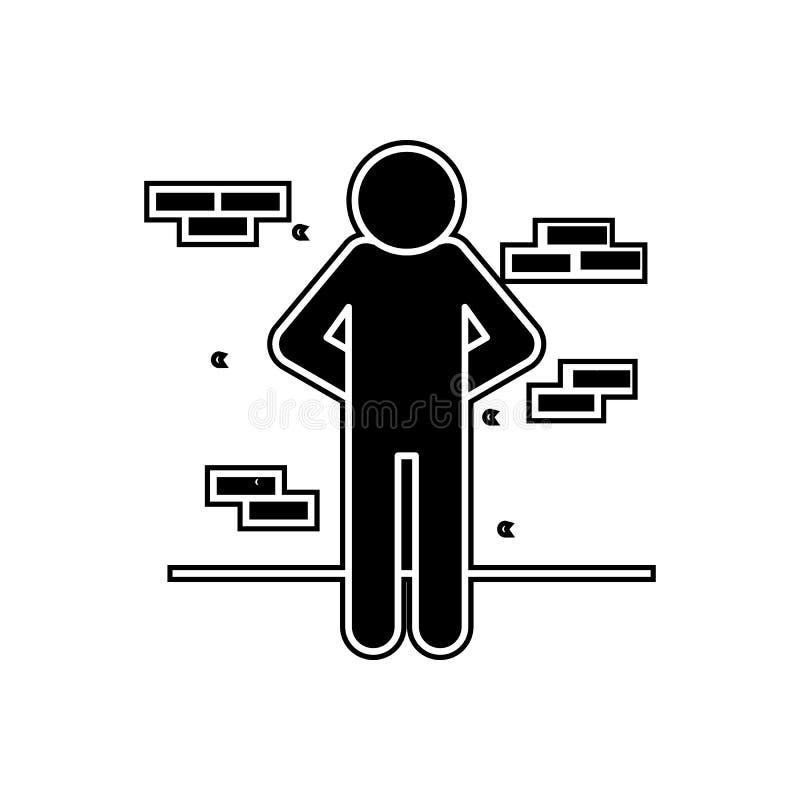 punição do ícone da execução Elemento da arquitetura da cidade para o conceito e o ícone móveis dos apps da Web Glyph, ícone liso ilustração do vetor