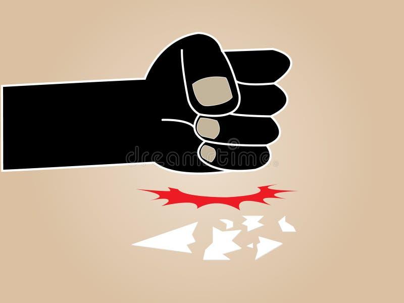 Punisher ręka ilustracja wektor