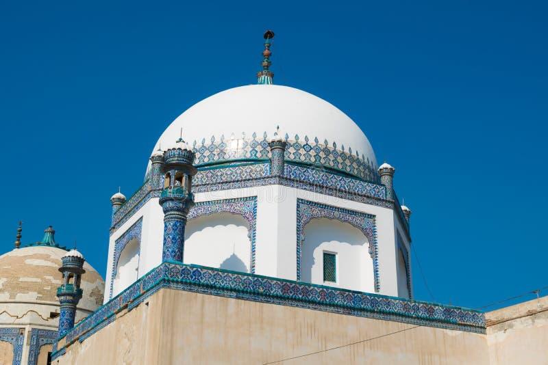 Punjab, Paquistán-marzo 9,2019: imagen del paisaje de la tumba del mohammad del dur del khawaja imagen de archivo