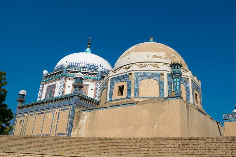 Punjab, Paquistán-marzo 9,2019: imagen del paisaje de la tumba del mohammad del dur del khawaja imagenes de archivo