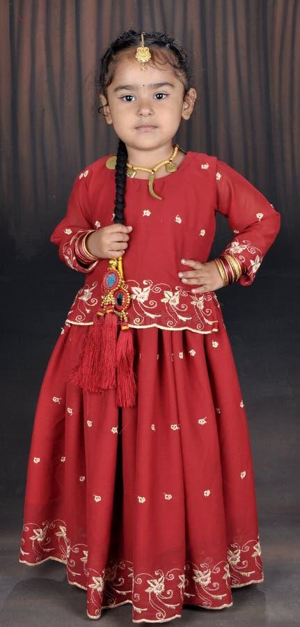 punjabi девушки маленький стоковое изображение rf