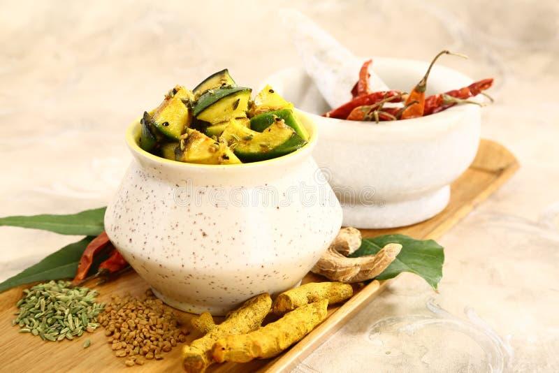 Punjabi Aam Ka Achaar or Mango Pickle, Indian Dish royalty free stock photo