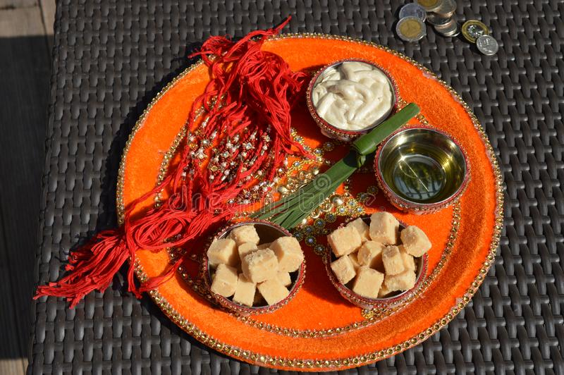 Punjabi-Hochzeits-Funktions-Platte stockbilder
