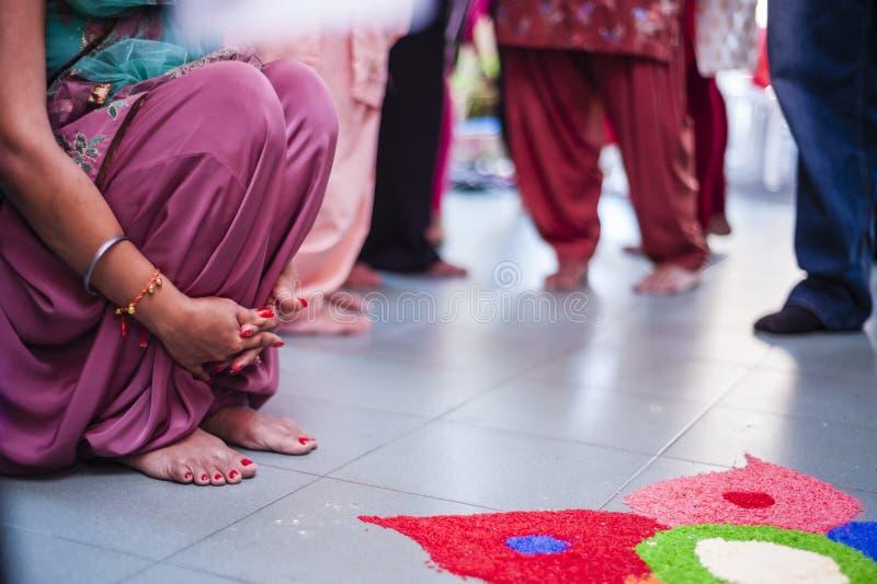 Punjabi-Hochzeits-Zeremonie stockbilder