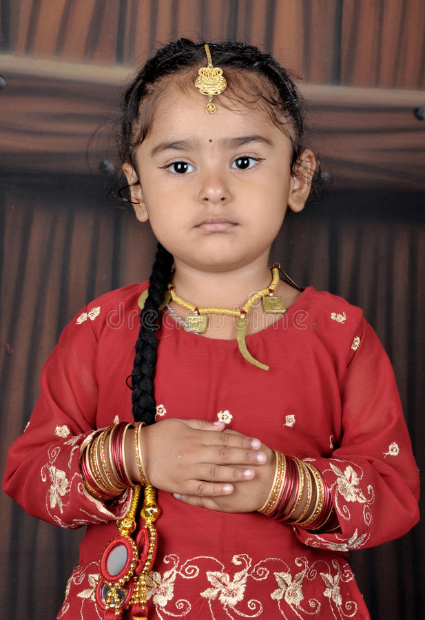 download punjabi little child stock photo image of jewelry cute 16616150 - Child Pictures Download