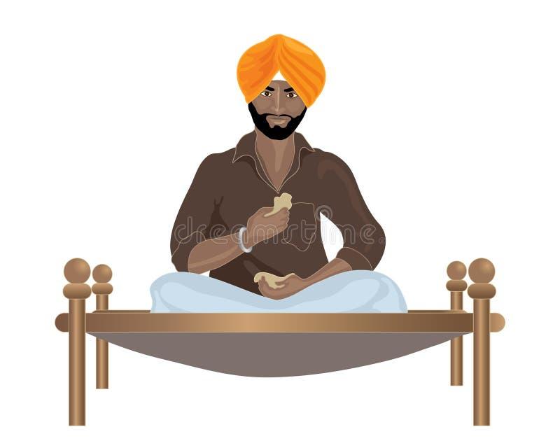 Punjabi man vector illustration