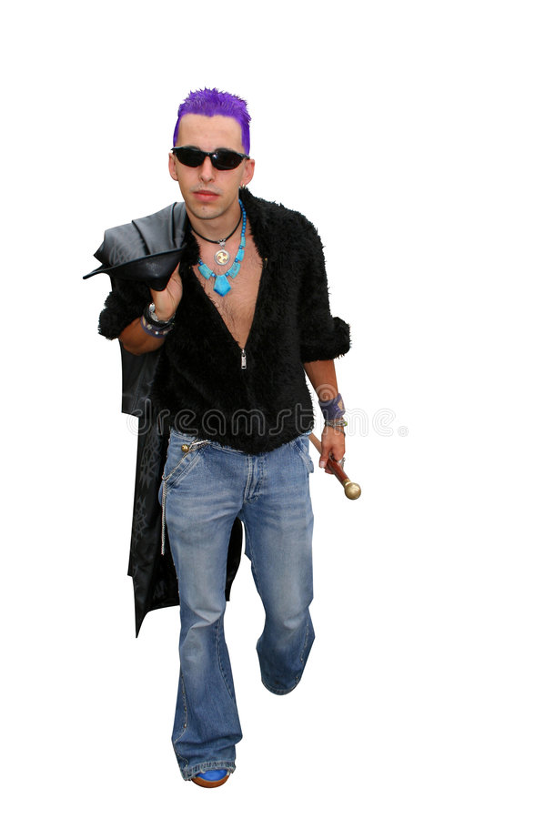 Punk ambulante immagine stock libera da diritti
