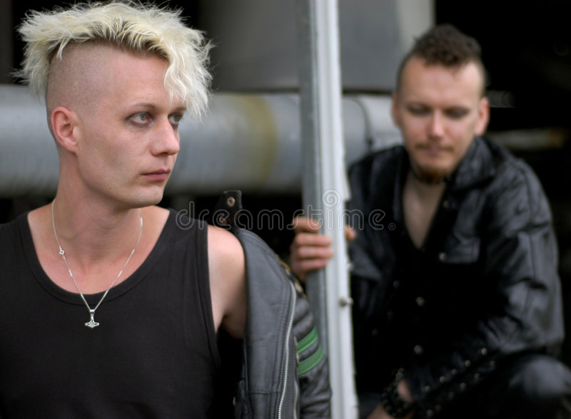 Download Punk boys stock photo. Image of makeup, serious, leather - 234828