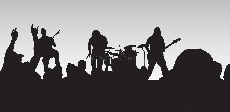Punk Concert stock photo