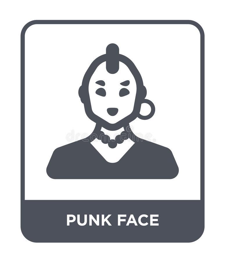 punk face icon in trendy design style. punk face icon isolated on white background. punk face vector icon simple and modern flat vector illustration