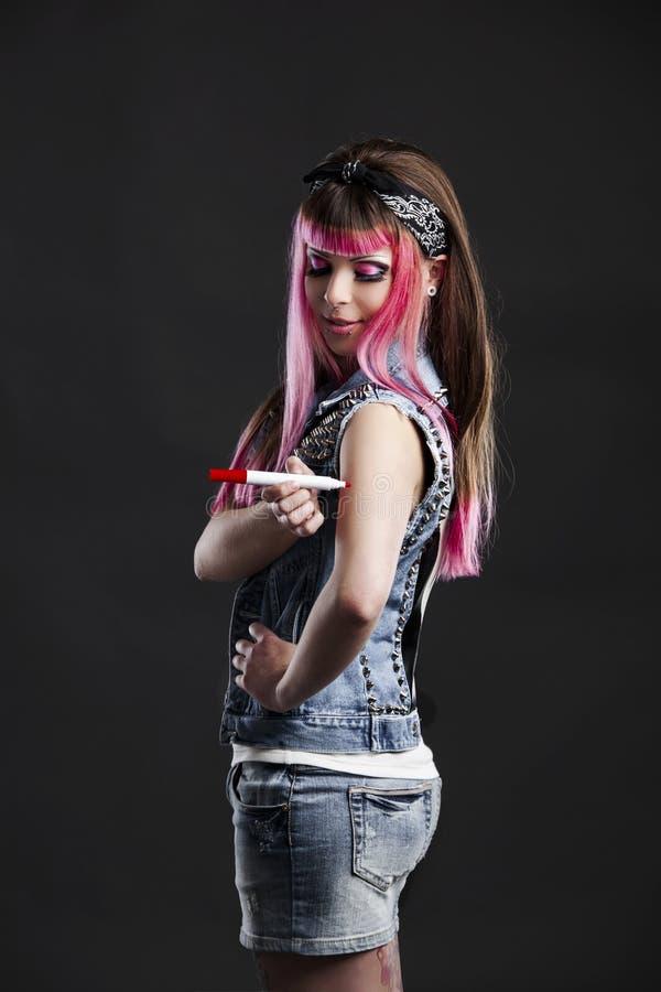 Punk flicka royaltyfri fotografi