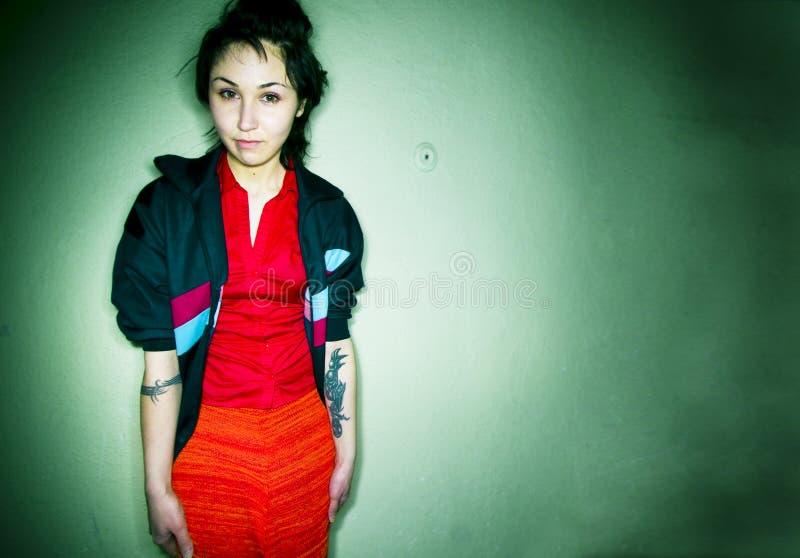 Punk girl royalty free stock photo