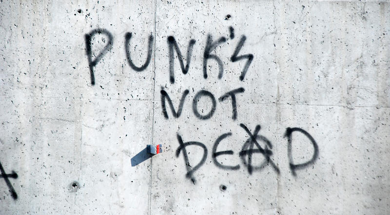 Punk ist nicht tot lizenzfreie stockfotos