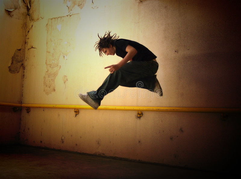 Punk Jump 2 royalty free stock images