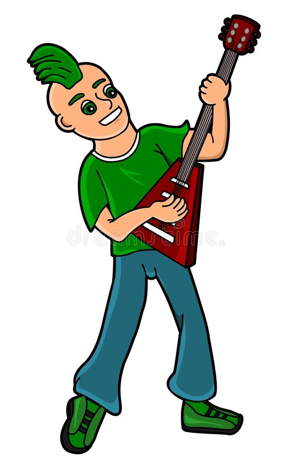 Punk kid guitarist stock photos
