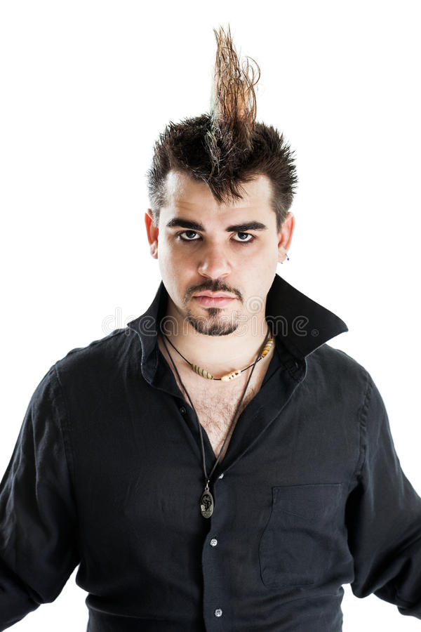 Download Punk Man With Mohawk Hairdo Stock Photo - Image of hair, punk: 29212920