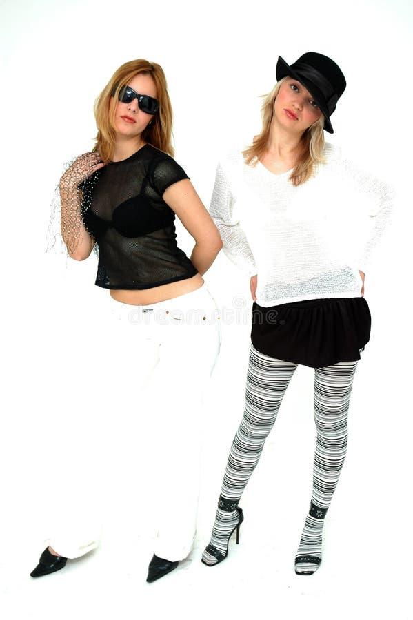 Punk meisjes royalty-vrije stock afbeelding