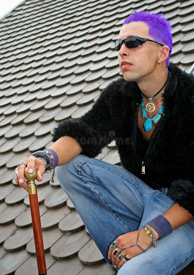 Punk no telhado fotos de stock