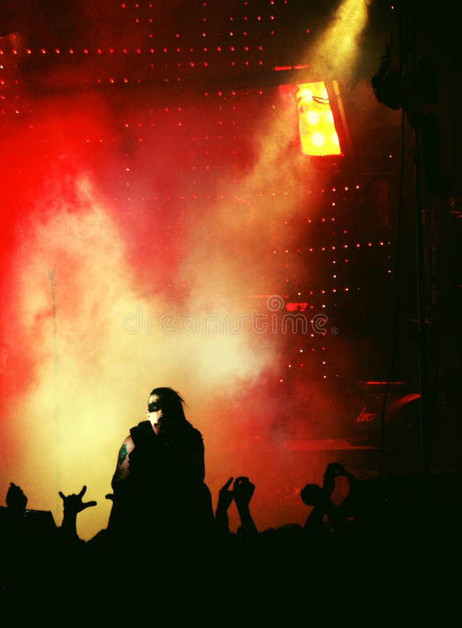 punk-rock concert royalty free stock photo