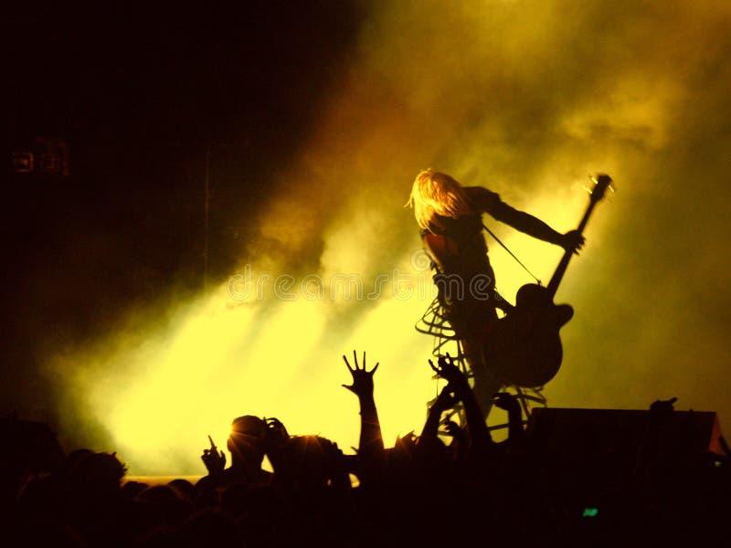 punk rock concert2 royaltyfria bilder
