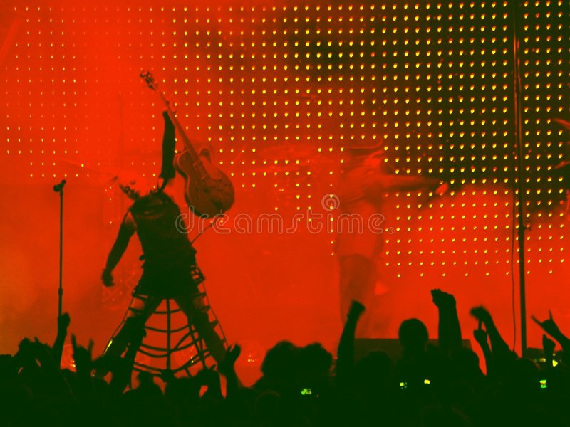 punk rock concert3 arkivfoto