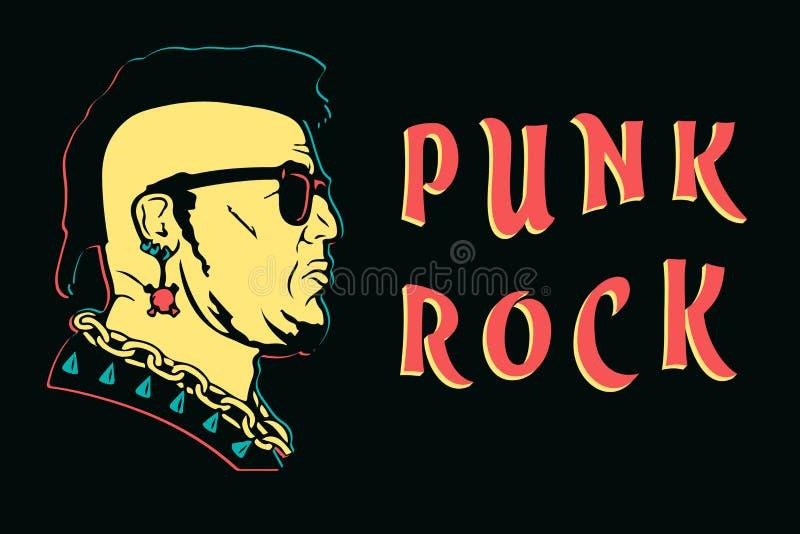 Punk rock design print. punk is not dead anarchy poster vector illustration