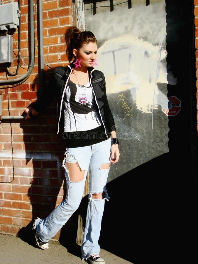 punk rock för flicka royaltyfri foto