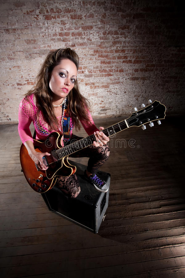 Download Punk Rock Girl stock image. Image of pink, lace, glam - 14826721