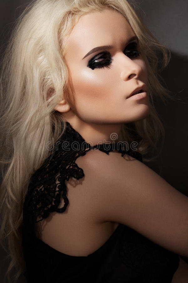Download Punk Rock Style. Model With Fashion Gloss Make-up Stock Images - Image: 20120894
