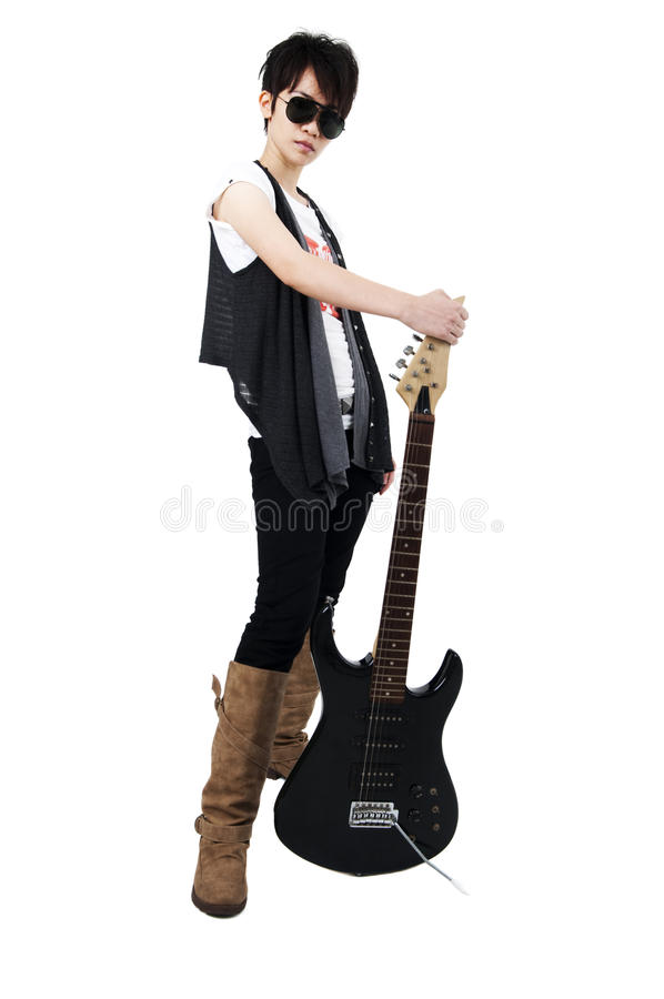 Punk Rockstar royaltyfria bilder