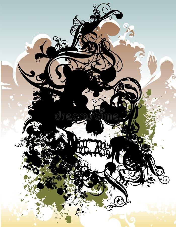 Punk skull illustration royalty free stock photography