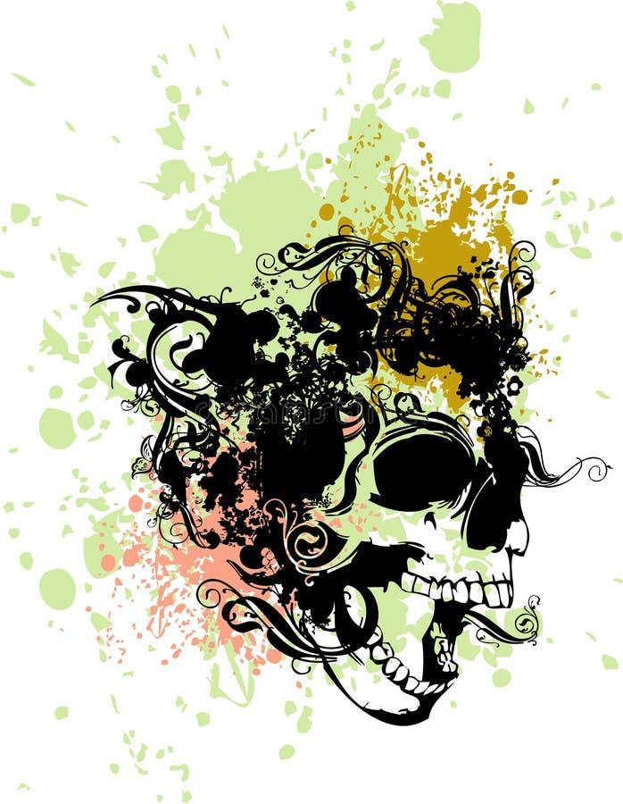 Punk skull illustration stock image
