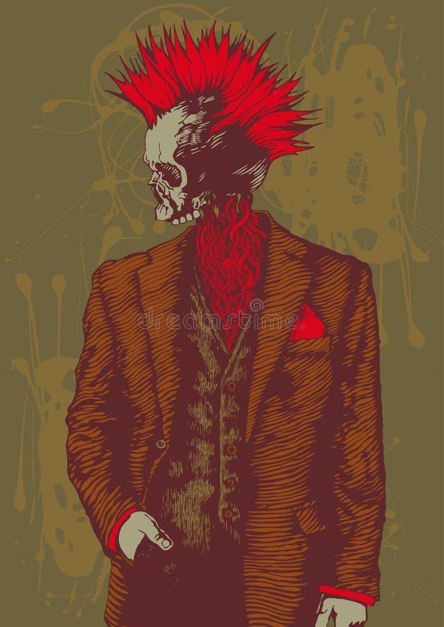 Download Punk Skull In The Men's Suit Stock Vector - Image: 12535107