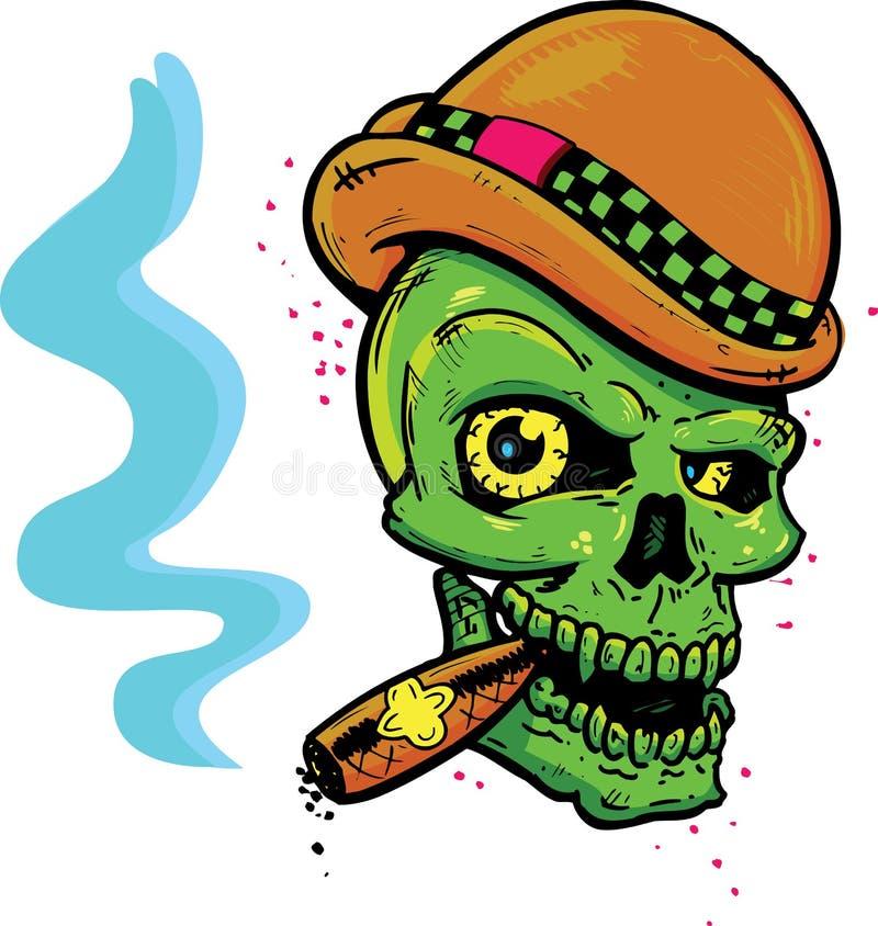 Download Punk Tattoo Style Skull Smoking A Cigar Stock Vector - Image: 9840772