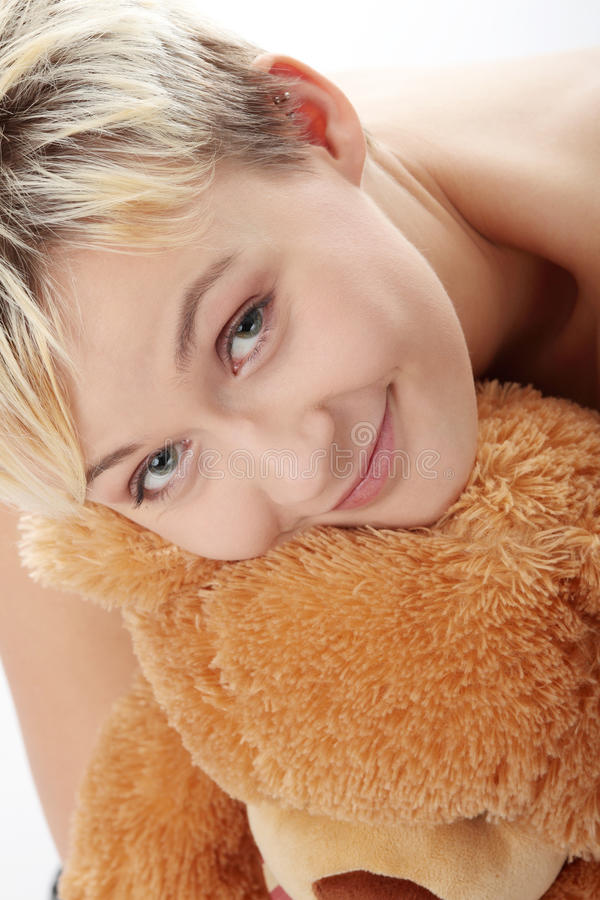 Download Punk teen girl with teddy stock image. Image of cute - 11863291