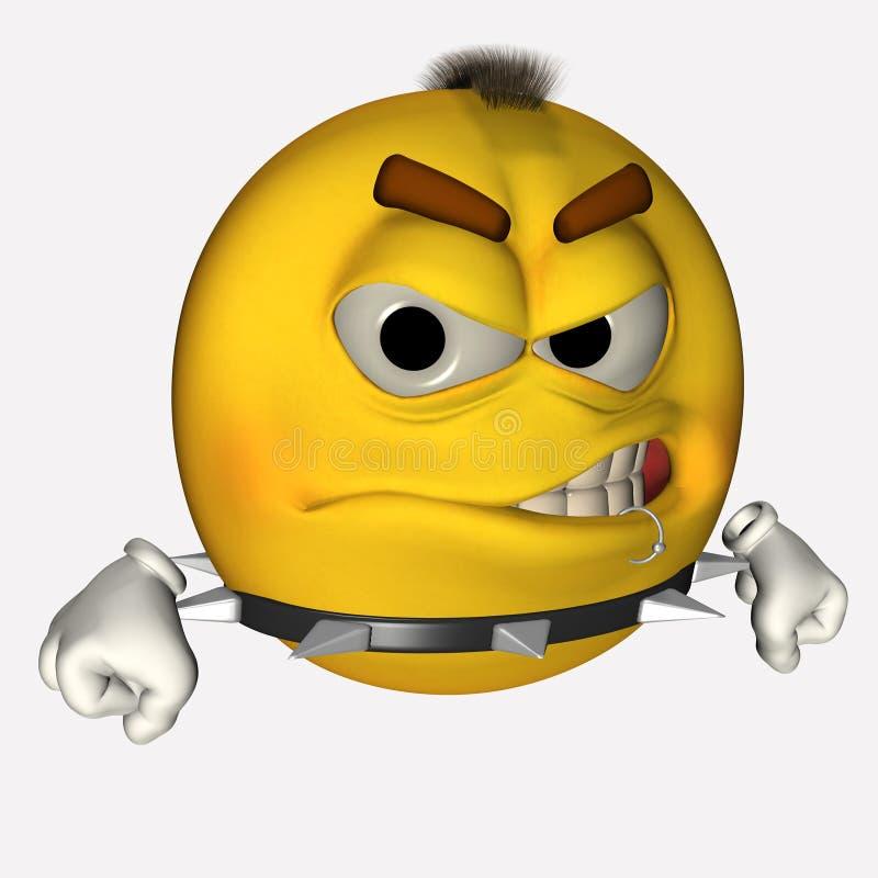 Punker 1 van Smiley vector illustratie