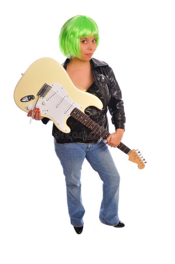 Punkfelsen des grünen Haares stockfotos