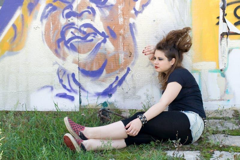 Punkmädchen stockfoto