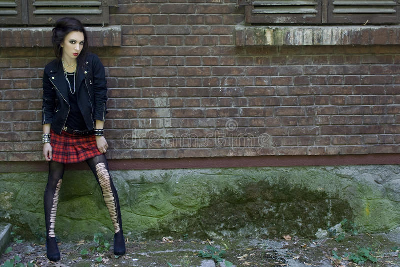Punkmädchen lizenzfreie stockfotos