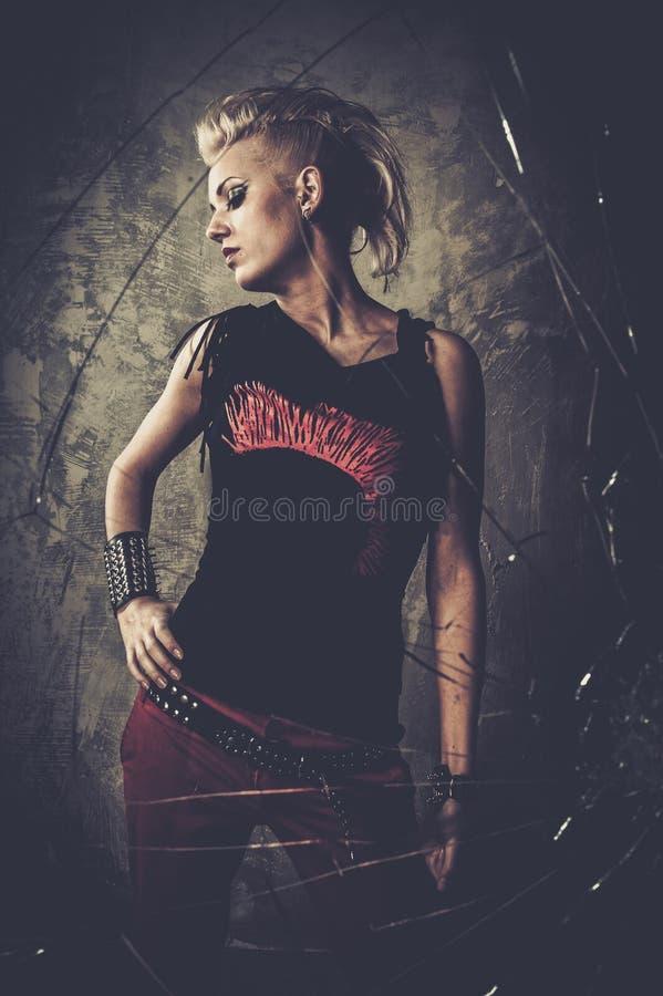 Punkmeisje royalty-vrije stock afbeeldingen
