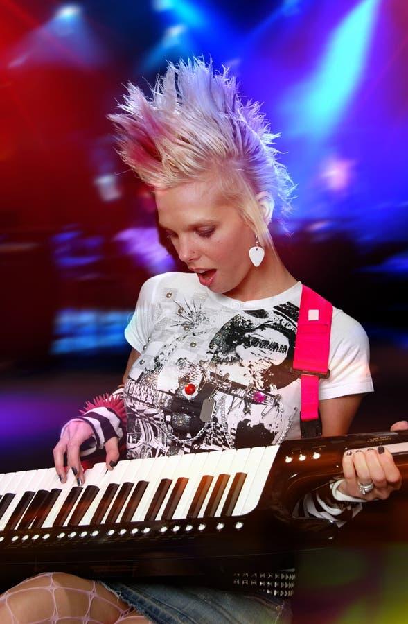Punkmusiker lizenzfreies stockbild