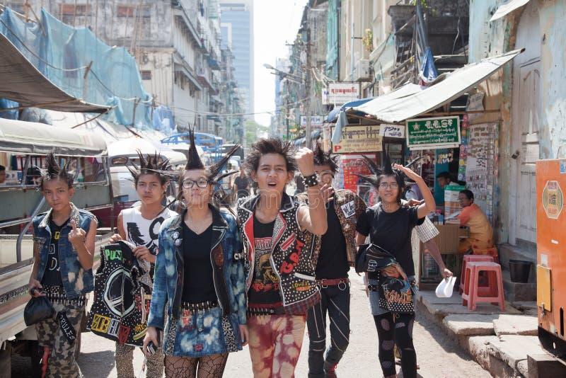 Punkprotestgang royalty-vrije stock fotografie