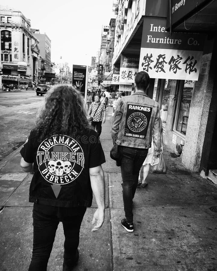 Punkrockers in Manhattan lizenzfreies stockbild