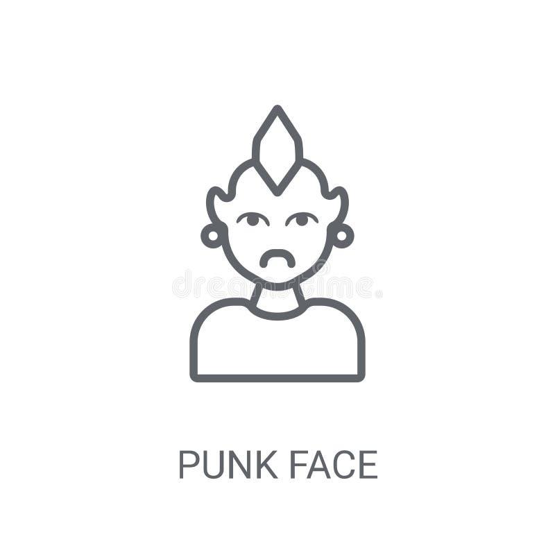 Punkrockframsidasymbol Moderiktigt begrepp för punkrockframsidalogo på vit backgroun stock illustrationer
